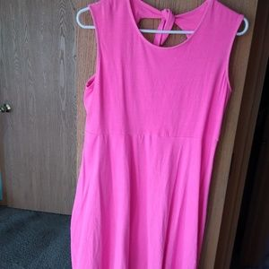 Total Girl  Plus Size Pink Casual Dress